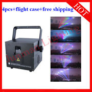 3w 3000mw Rgb Full Color Animation Laser Projector Ilda 30k 4pcs With Case