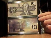 Canada 10 Dollars Differents Bills With Some Serial Number