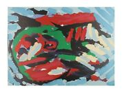 Flying Head Over Ocean By Karel Appel Lithograph On Paper Le Of 160 30 X 22
