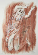 Jerimiah From The Prophet's Suite By Reuven Rubin Signed Lithograph 44/200