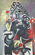Smoker By Pablo Picasso Plate Signed Lithograph On Paper 25 1/2x20