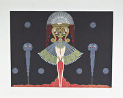 Salome By Erte Signed Artistand039s Proof Ap Lithograph 22 1/2x27 1/2