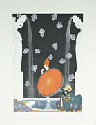 Bath Of The Marque By Erte Signed Artistand039s Proof Ap Lithograph 24x18 1/2