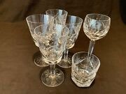 Waterford Crystal Ashling 4 Water Goblets, Wine Hock, Single Old Fashion As Is