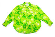 Issey Sport By Issey Miyake 80s Vtg Cabbage Neon Trucker Jacket Womens Size 9