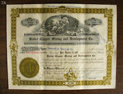 Rare 1916 Bisbee Copper Mining And Development - Old Stock Certificate - Antique