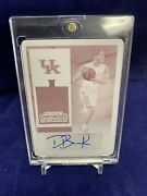 Devin Booker Autograph 2015-16 Contenders Rookie Auto Printing Plate 1/1 Suns Rc