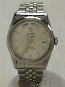 Tudor Oyster Date-day 94710 Automatic Watch White Dial Used