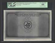 Marine Midland Grace Trust Co Certificate Of Deposit Nd1968 Photographic Proof