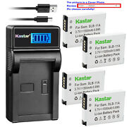 Kastar Battery Lcd Usb Charger For Samsung Slb-11a Samsung St1000 St5000 St5500