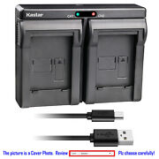 Kastar Battery Dual Usb Charger For Samsung Slb-11a Samsung St1000 St5000 St5500