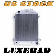 Aluminum Radiator For 1932 Ford Hi-boy Chevy Engine V8 Grill Shell At/mt 62mm