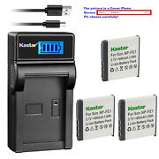 Kastar Battery Lcd Usb Charger For Sony Np-fe1 Npfe1 And Sony Cyber-shot Dsc-t7/b