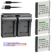 Kastar Battery Dual Usb Charger For Sony Np-fe1 Npfe1 And Sony Cyber-shot Dsc-t7