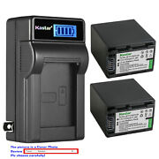 Kastar Battery Lcd Wall Charger For Sony Np-fh100 And Dcr-sx40 Dcr-sx41 Dcr-sx50