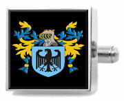 Lockhart Scotland Family Crest Surname Coat Of Arms Cufflinks Personalised Case