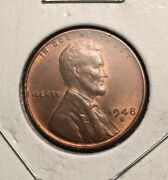 1948 S / S Lincoln Wheat Penny - Rpm Repunched Mintmark