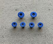 Blue Replacement Scale And Pivot Screws For Spyderco Paramilitary 2 - Set Of 6