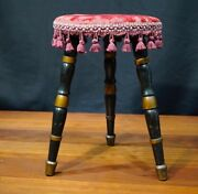 Late Victorian Milking Stool, Painted Finish, C. 1890