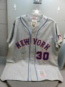 Nolan Ryan 30 1969 Mets Signed Mitchell And Ness Jersey - Xl
