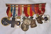 Medal Group. 8 Medals. Spanish Civil War Morocco Italy Alfonso Xiii And Other