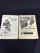 Harley Davidson Motorcycle Magazine Ads From 1948 And 1958 In Popular Science