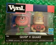 Sdcc 2019 Funko Pop Exclusive With Shared Sticker Vynl Quisp + Quake Limited Ed.