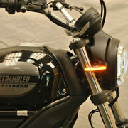 New Rage Cycles Ducati Scrambler Cafe Racer Front Turn Signals