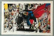 Batman Vs Superman By Mr. Brainwash Sold Out Signed/numbered Print - Rare