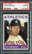 1964 Topps 447 Ted Bowsfield Athletics Psa 10 24706892