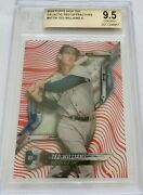 2018 Topps High Tek Ted Williams Yankees Galactic Red Diffractor 10/10 Bgs 9.5