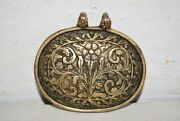 1800and039c Vintage Brass Hand Engraved Flower Designed Pendant Decorative Accessory