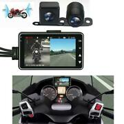 3 Lcd 140anddeg Waterproof Dual Action Camera Video Recorder For Motorcycle Car Bike