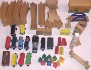 Thomas The Train Wooden Lot Of Multiple Sets, Total Of 80+ Pieces