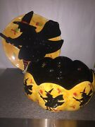 Susan Winget Halloween Bowl And Witch Platter By Certified International