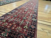 2x19 3x20 Rare Size India Long Runner Oriental Area Rug Wool Rust Green Red