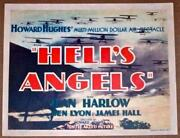 Helland039s Angels And03930 Tc Howard Hughes Wwi Air Spectacle Jean Harlow Very Rare