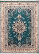 Extra Fine Decorative Floral Oriental Hand-knotted Wool Aubusson Area Rug 9x12