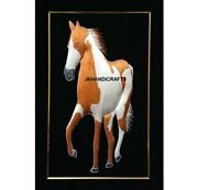 Random Silk Embroidered Horse Figurine Wall Hanging Bedroom Decor Gifts