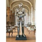 Medieval Replica Kingand039s Knight Italian Suite Of Armor With Sword 69.5 Statue