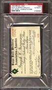 1932 Ticket Pass Psa Lou Gehrig 4 Hrand039s One Game/babe Ruth 41 Hr/jimmie Foxx Mvp