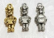 Chef With Menu Board Fine Pewter Pendant Charm