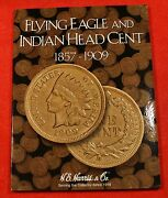 Indian Head Cents 45 Coins In New Harris Book Folder Album Check Out Store B6