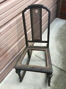 Antique Wooden Rocking Chair Stamped 1612 Very Original Solid Sturdy Try U-ship