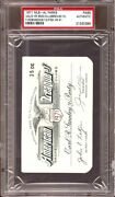 1971 Harmon Killebrew/frank Robinson 500 Hr Ticket Pass Psa Carlton Fisk 1st Hr