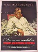 Price Cut Wwii Nurse Recruit Poster - Serve Those Who Served, Nurses Are Needed