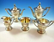 Antique Sterling Silver Five 5 Piece Tea Set By Yuchang Sterling