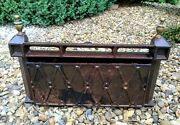 Fireplace Vintage Fret Guard Dampener Dust Grill Grate Rare Type Of Fire Front