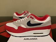 Nike Air Max 1 Qs Usa Size 8.5 Betsy Ross July 4th Cj4283 100 White Red Navy