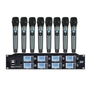 8 Channel Microphone System Vocal Wireless Mic Uhf For Shure Microphone Karaoke